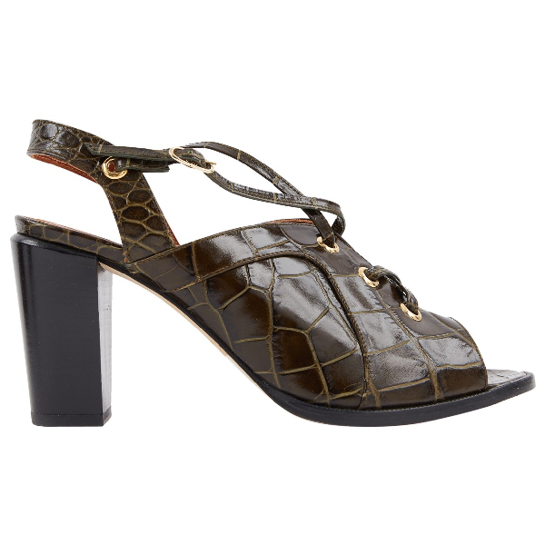 Vanessa Bruno Green Leather Sandals
