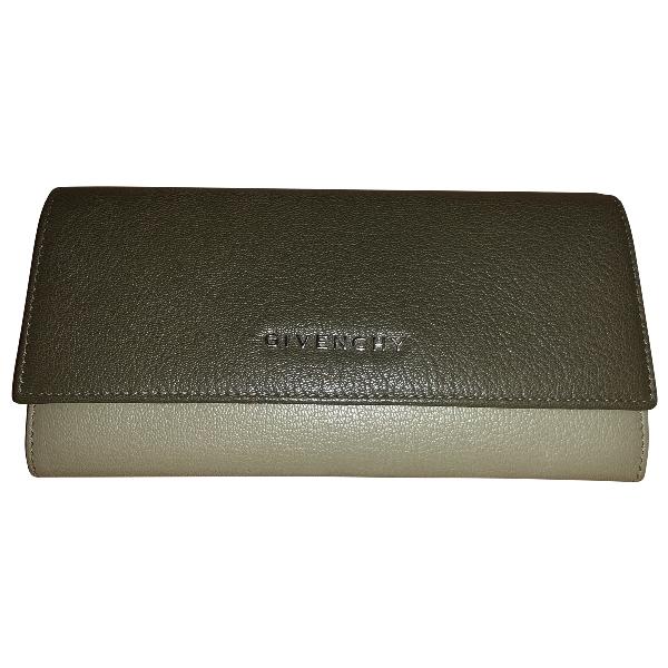 Givenchy Khaki Leather Wallet