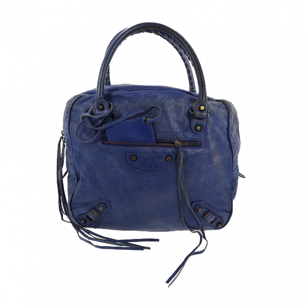 Balenciaga Blue Leather Handbag