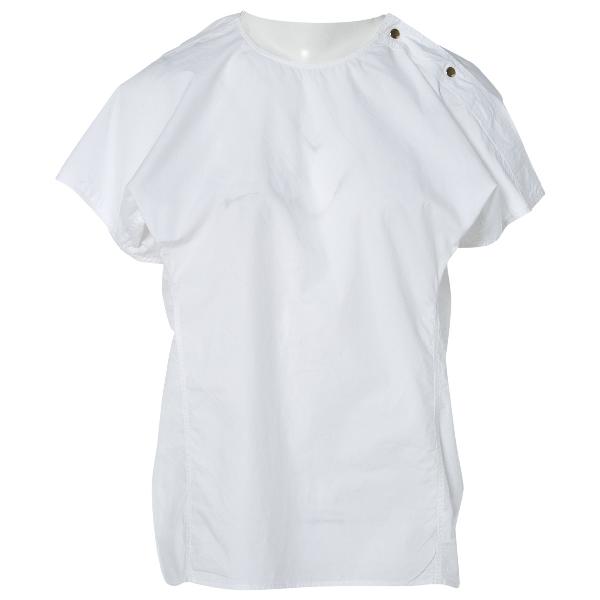 Sofie D'hoore White Cotton  Top