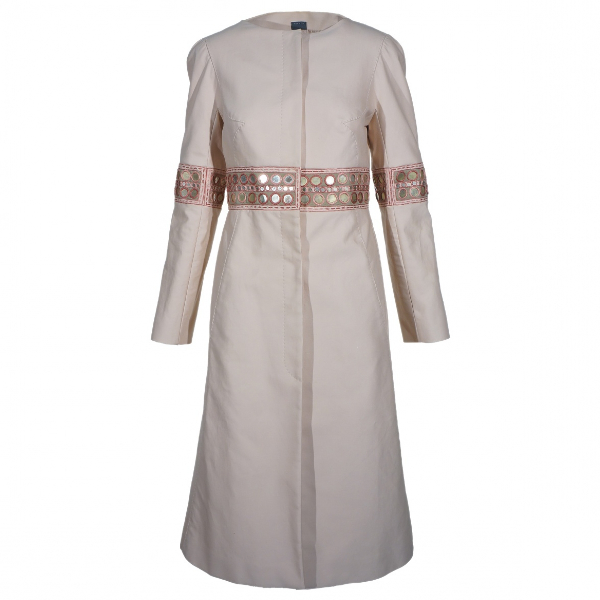 Alexander Mcqueen Beige Cotton Coat