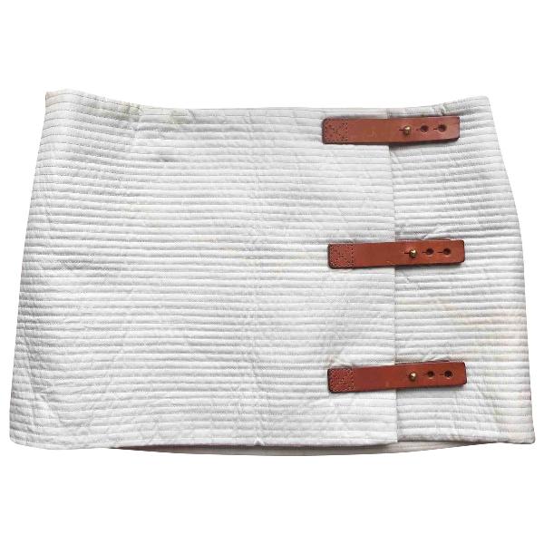 Lemaire Ecru Cotton Skirt