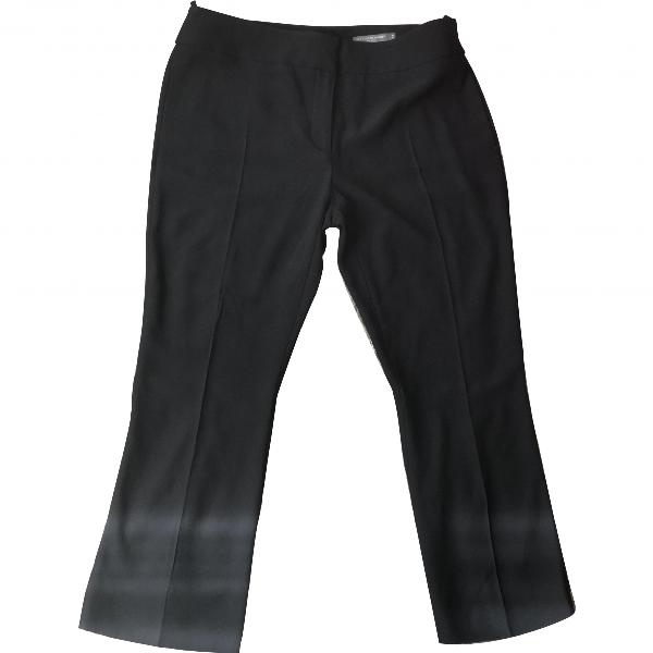 Alexander Mcqueen Navy Silk Trousers