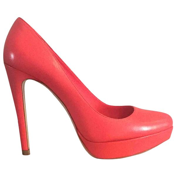Miu Miu Pink Leather Heels