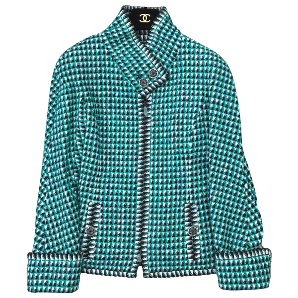 Chanel Green Cotton Jacket