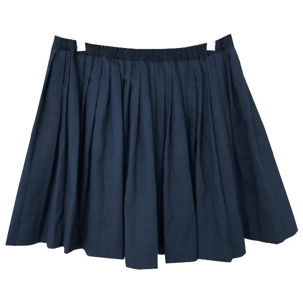 Bonpoint Blue Wool Skirt
