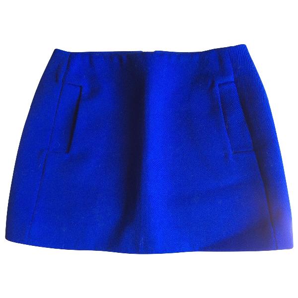 Maje Blue Wool Skirt