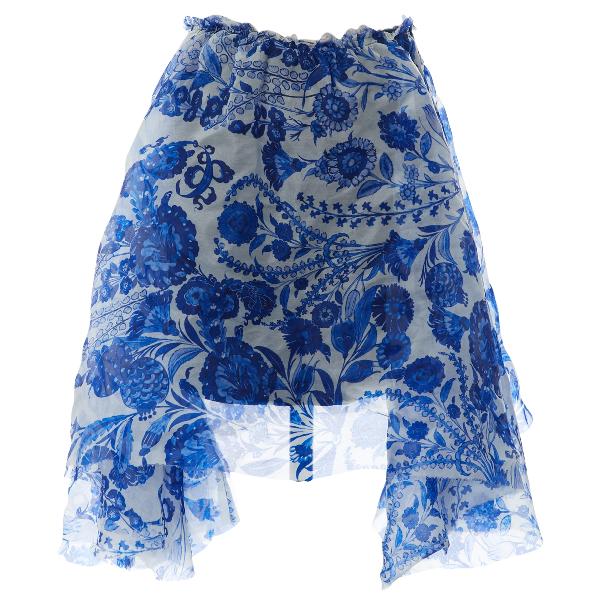 Rodarte Blue Silk Skirt