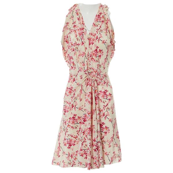 Balenciaga Ecru Silk Dress