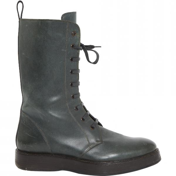 Bottega Veneta Green Leather Boots