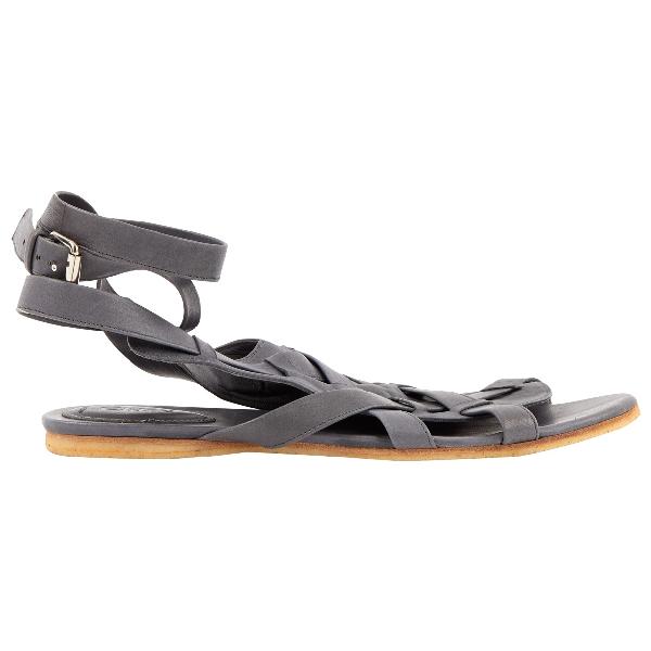 ChloÉ Grey Leather Sandals