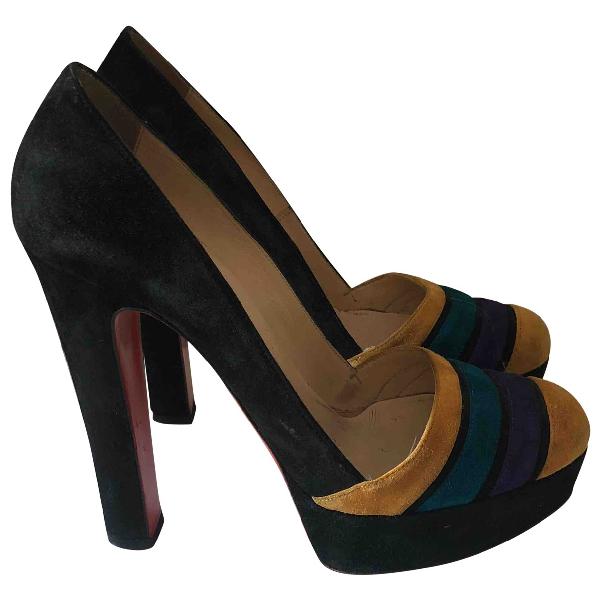 Christian Louboutin Multicolour Suede Heels
