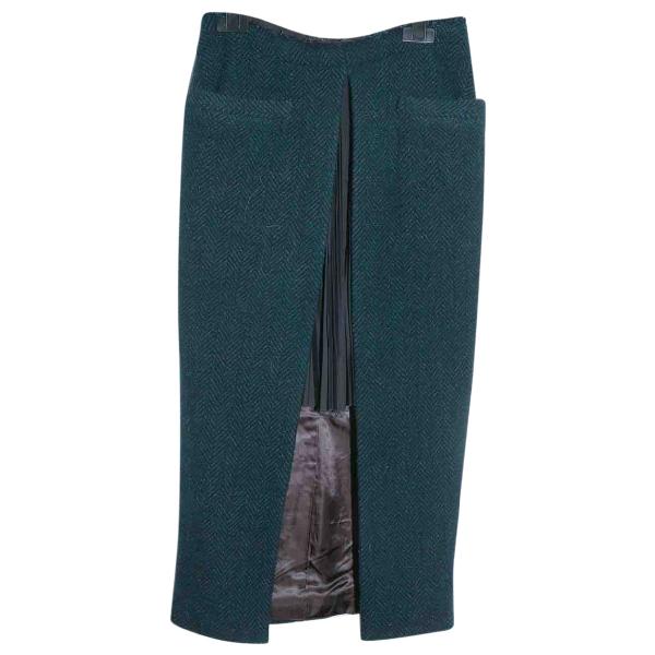 Sacai Green Wool Skirt