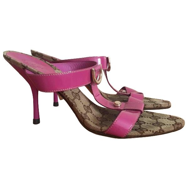 Gucci Multicolour Patent Leather Sandals