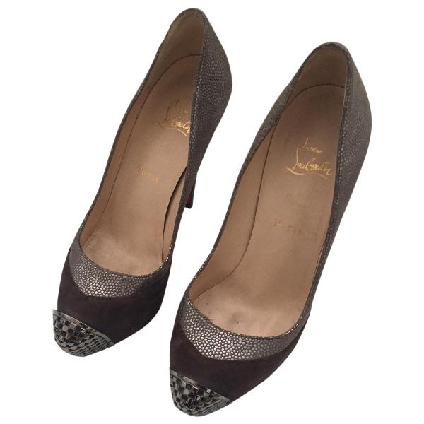 Christian Louboutin Metallic Leather Heels