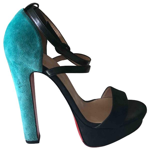 Christian Louboutin Multicolour Suede Sandals