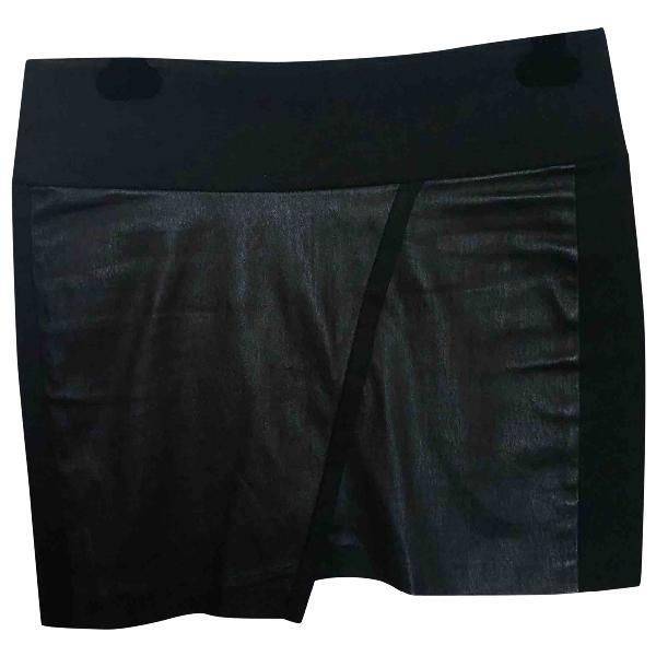 Iro Black Leather Skirt