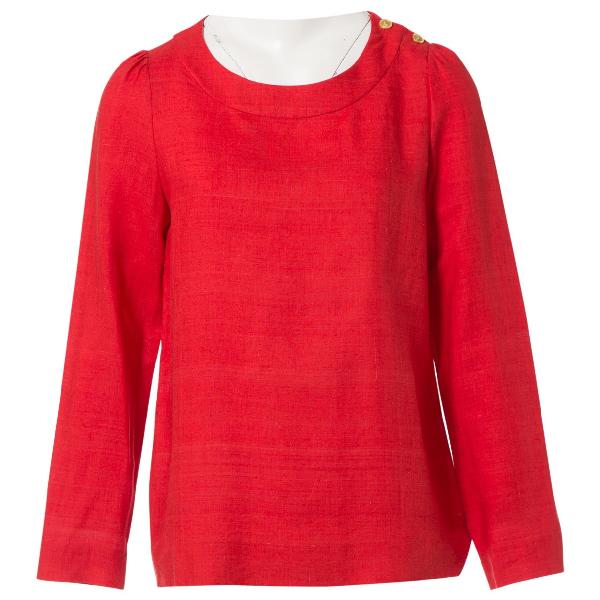 ChloÉ Red Linen  Top