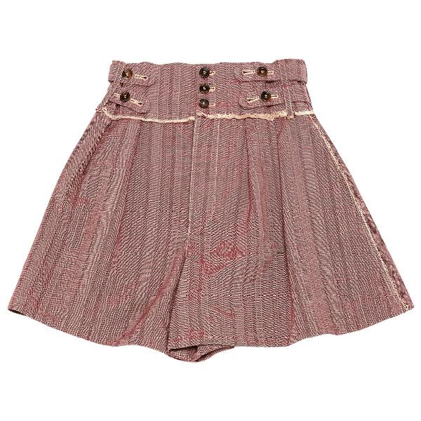 ChloÉ Burgundy Cotton Shorts