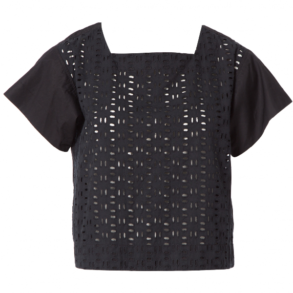 See By ChloÉ Black Cotton  Top