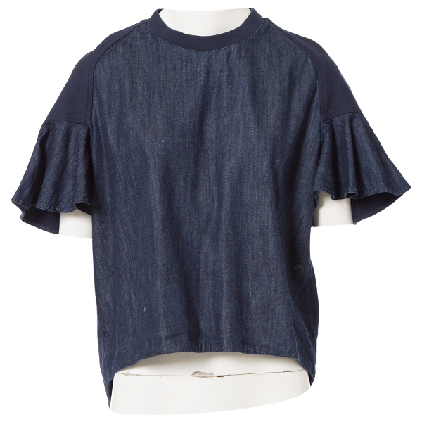 See By ChloÉ Blue Cotton  Top