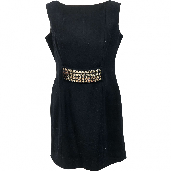 Victoria Beckham Black Wool Dress