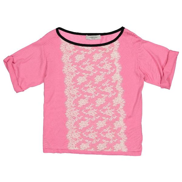 Valentino Pink Cotton Knitwear