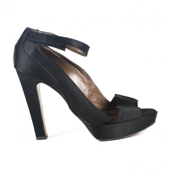 Marni Black Cloth Sandals