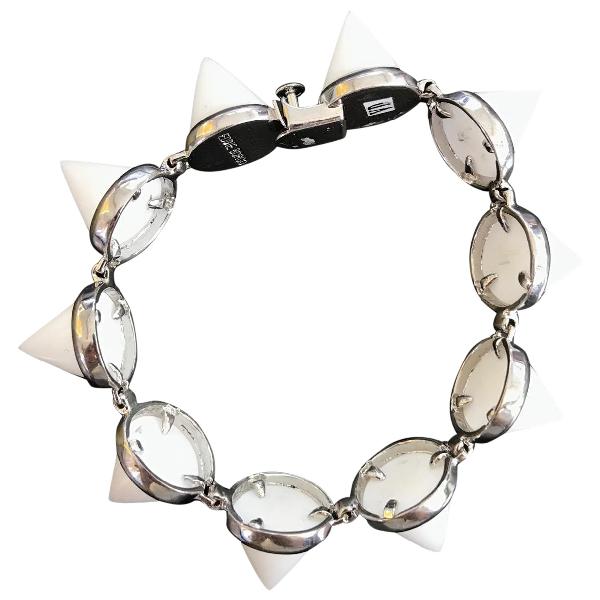 Eddie Borgo White Metal Bracelet