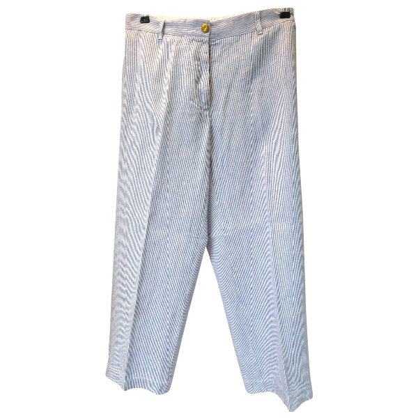 Jucca Blue Cotton Trousers