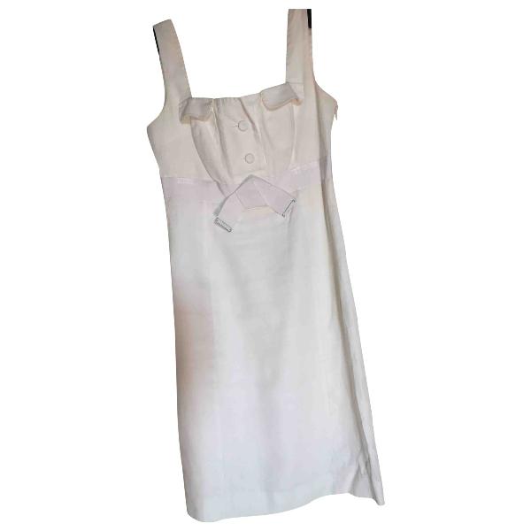 Paule Ka White Cotton Dress