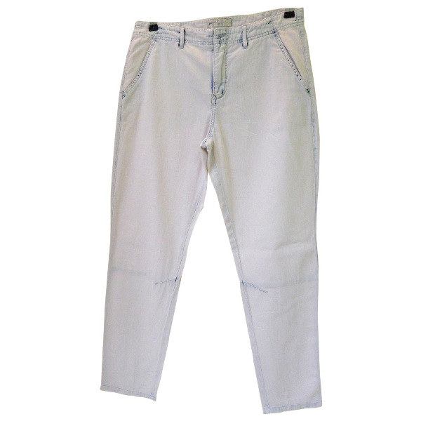 Free People White Cotton Trousers