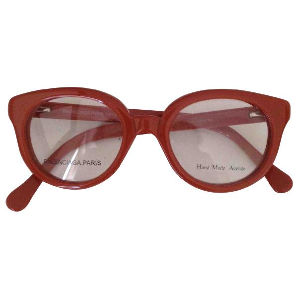 Balenciaga Orange Sunglasses