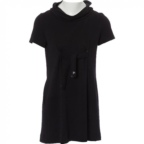 Fendi Black Wool Dress