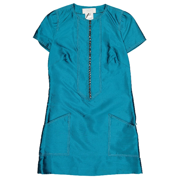Azzaro Blue Silk Dress