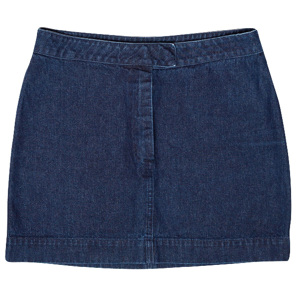 Helmut Lang Blue Cotton Skirt