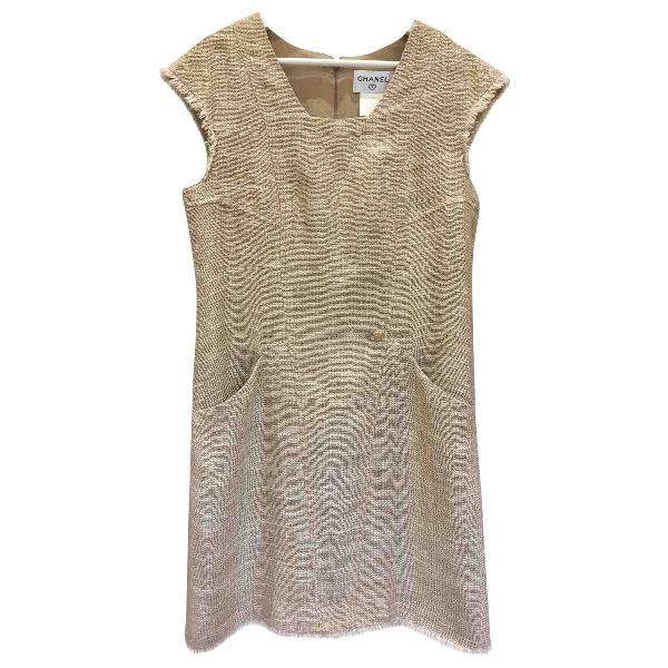 Chanel Beige Linen Dress