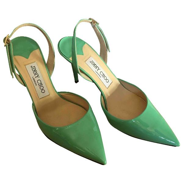 Jimmy Choo Green Patent Leather Heels
