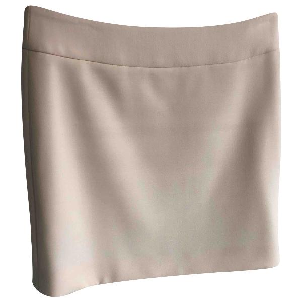 Dolce & Gabbana White Wool Skirt