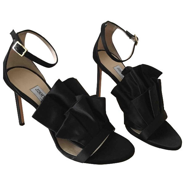 Jimmy Choo Black Cloth Sandals