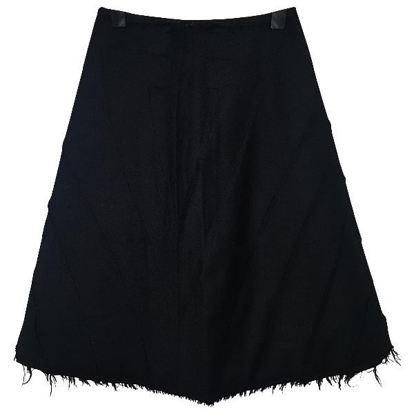 Alexander Mcqueen Black Wool Skirt