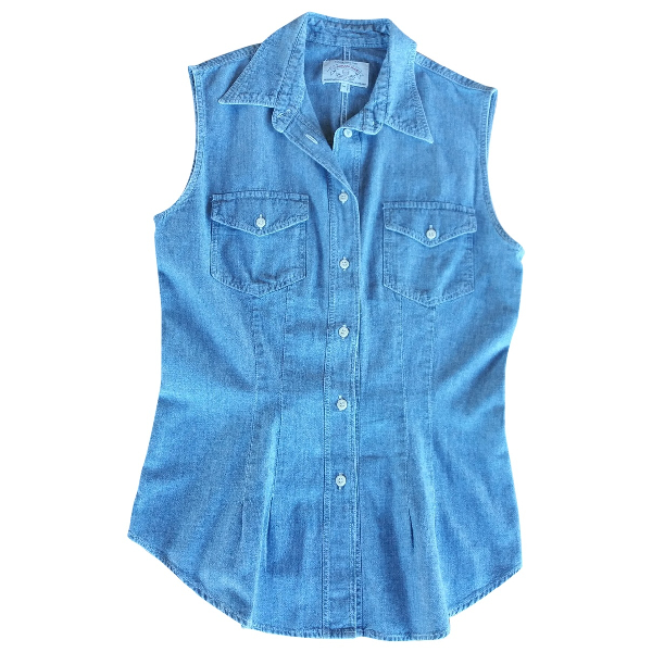 Armani Jeans Blue Cotton  Top