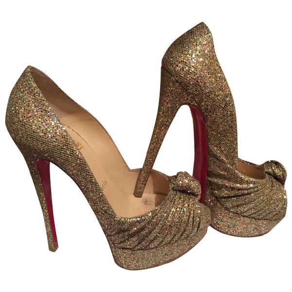Christian Louboutin Gold Glitter Heels