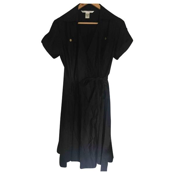 Diane Von Furstenberg Black Cotton Dress