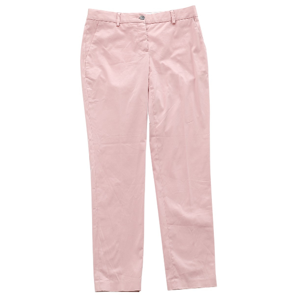 Dolce & Gabbana Pink Cotton Trousers