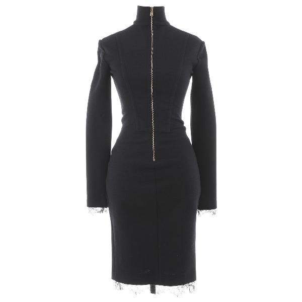 Emilio Pucci Black Wool Dress