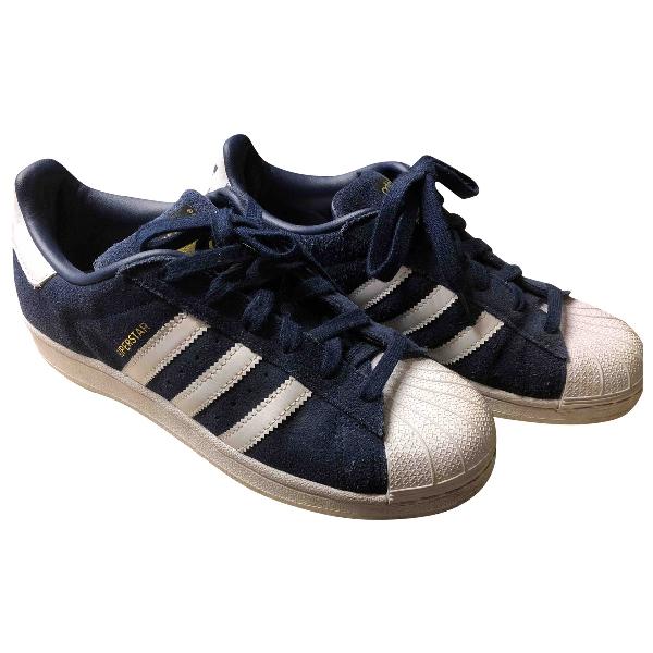 Adidas Originals Superstar Blue Suede Trainers
