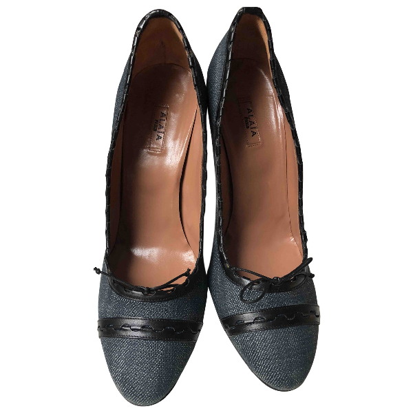 AlaÏa Blue Cloth Heels