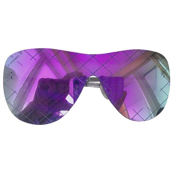 Chanel Purple Metal Sunglasses