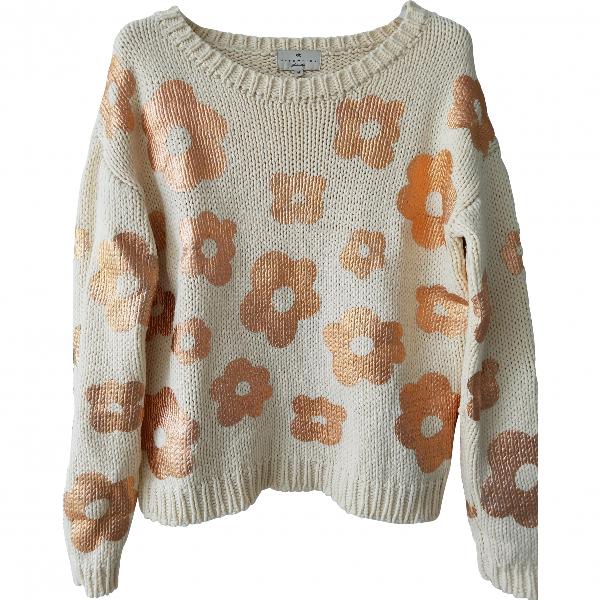 Essentiel Antwerp Ecru Cotton Knitwear
